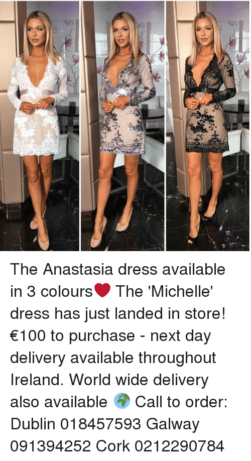 1c05709aaff0 Memes, Anastasia, and Dress: 7 The Anastasia dress available in 3 colours❤