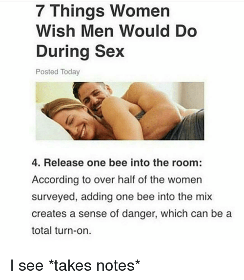 Things that should do during sex