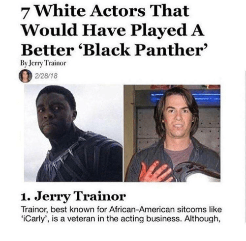 7 White Actors That Would Have Played A Better Black Panther By