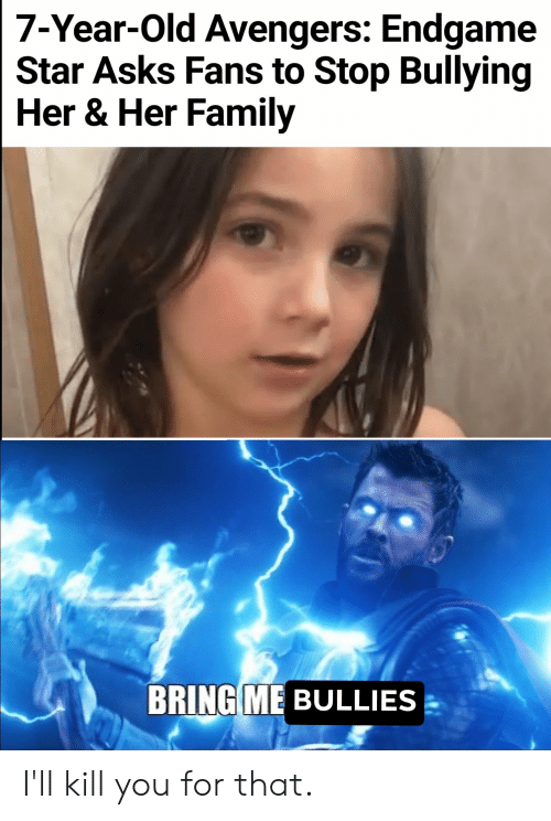 7-Year-Old Avengers Endgame Star Asks Fans to Stop Bullying Her