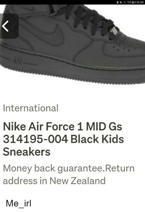 72% 830 AM International Nike Air Force 1 MID Gs 314195 004