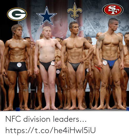 Football, Memes, and Nfl: 74  70  a Brn  @NFL MEMES NFC division leaders... https://t.co/he4iHwl5iU