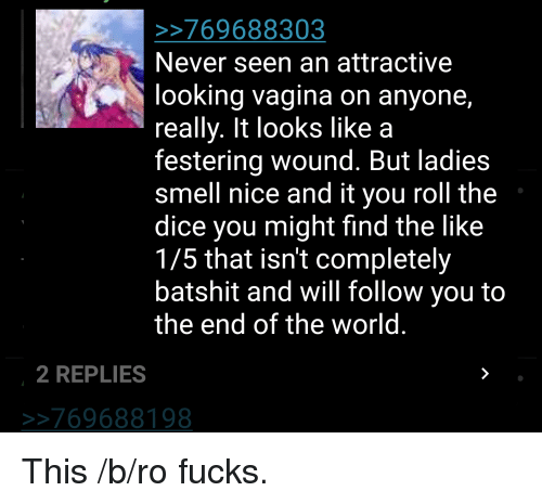 4chan Smell And Dice 769688303 Never Seen An Attractive Looking Vagina On Anyone