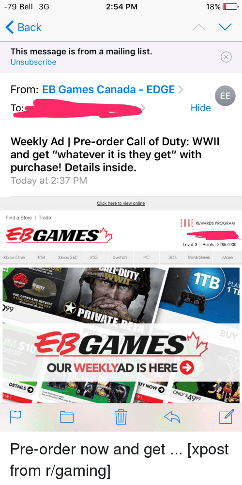 how to pre order online at eb games