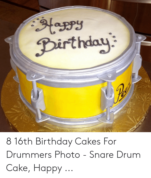 Pleasant 8 16Th Birthday Cakes For Drummers Photo Snare Drum Cake Happy Personalised Birthday Cards Veneteletsinfo