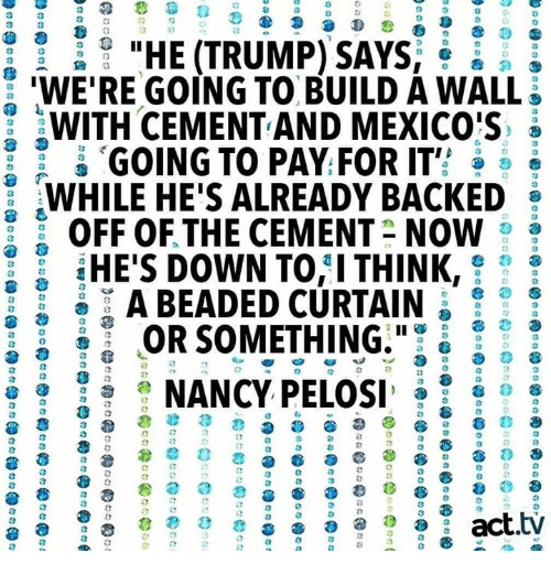 8 3 4 3 'WE'RE GOING TO BUILD a WALL WITH CEMENTAND MEXICO'S