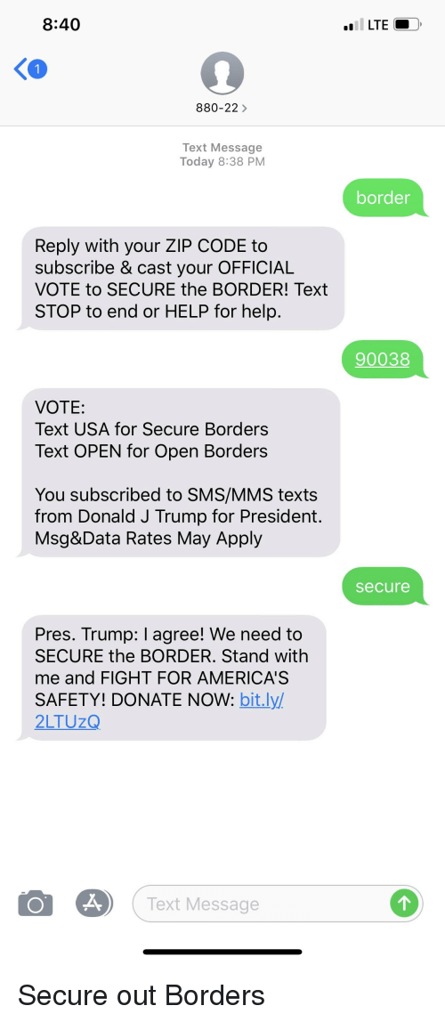 text message code