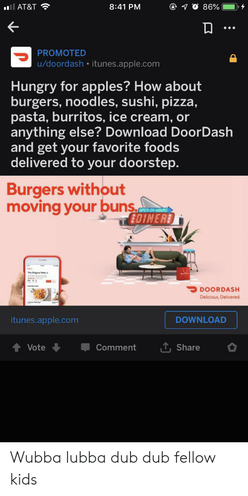 841 PM 86% Ll AT&T PROMOTED Udoordash Itunesapplecom Hungry