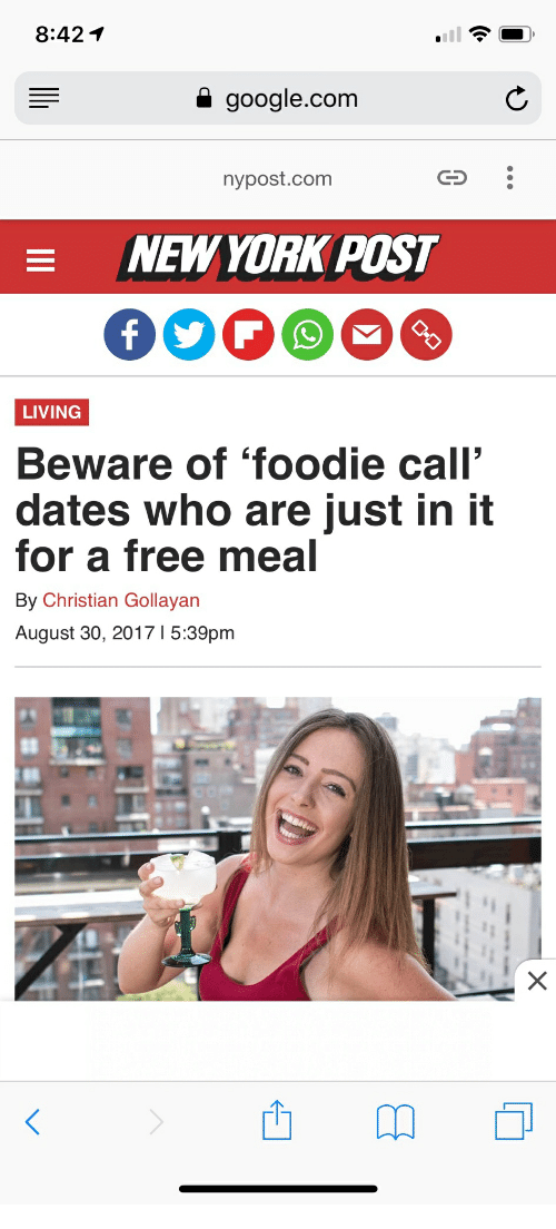 foodie call dates