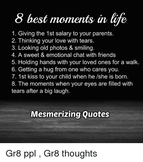 8 Best Moments In Life 1 Giving The 1st Salary To Your Parents 2