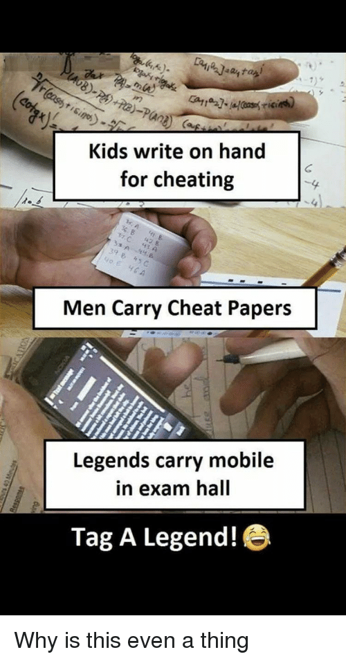 8 Kids Write on Hand for Cheating 4 C 42 & 39 Men Carry