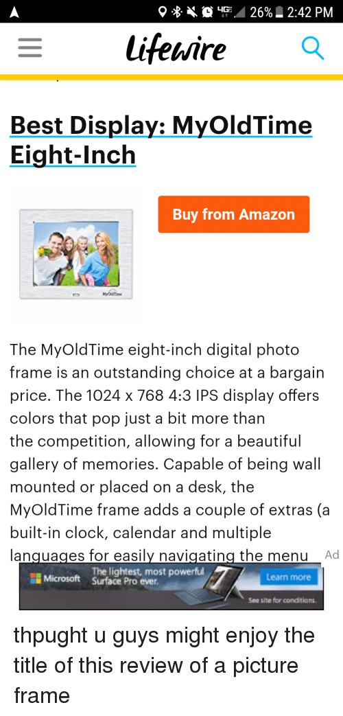 8 Up 26% _ 242 PM Best Display MyOldTime Eight-Inch Buy From Amazon ...