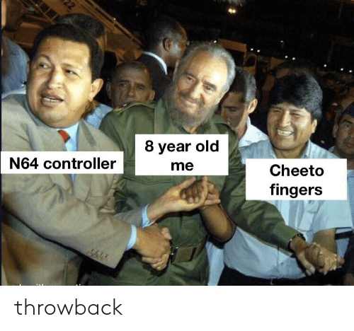 8 Year Old Me N64 Controller Cheeto Fingers Throwback