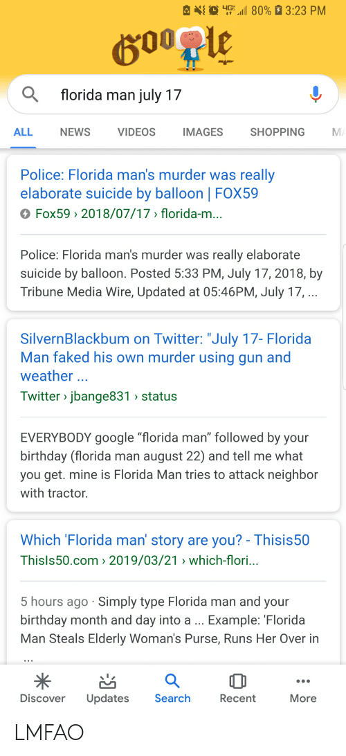 80% 1323 PM Florida Man Iuly 17 ALL NEWS VIDEOS IMAGES