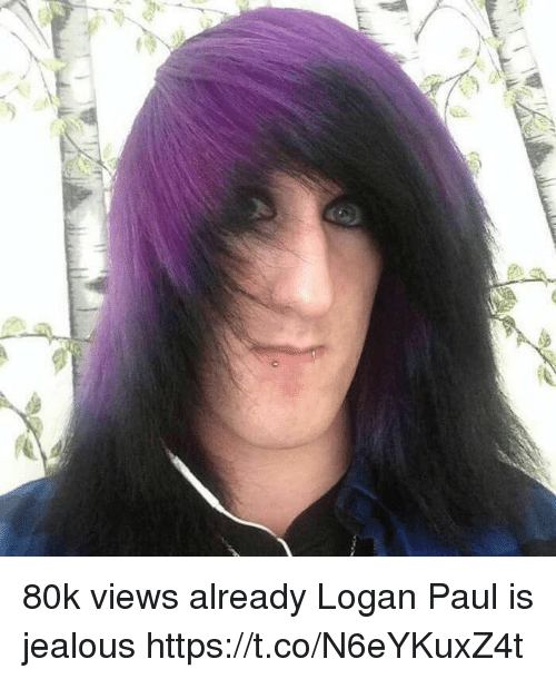 Funny, Jealous, and Paul: 80k views already Logan Paul is jealous https://t.co/N6eYKuxZ4t