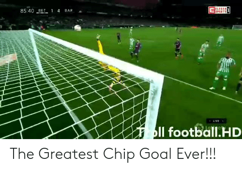 Goal, Live, and Chip: 8540 BE 1 4 BAR  LIVE  Il footBdllLHD The Greatest Chip Goal Ever!!!