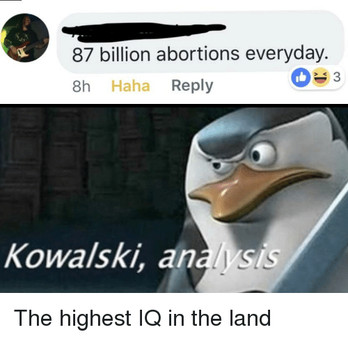Reddit Haha And Billion 87 Abortions Everyday 8h Reply S