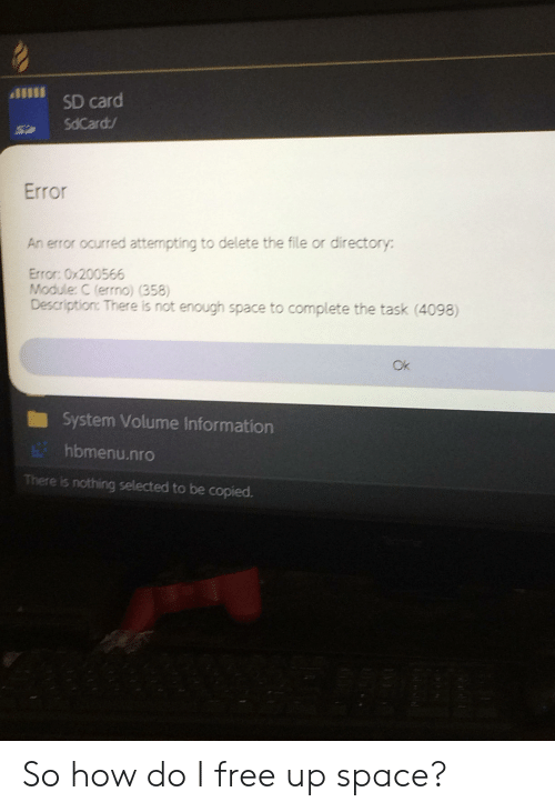 880S8 SD Card SdCard Error an Error Ocurred Attempting to