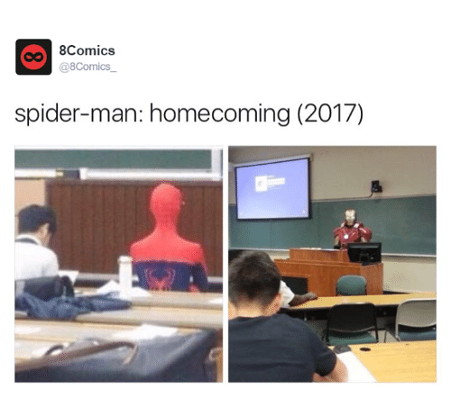 Memes, Spider, and Spiders: 8Comics  @8Comics  spider-man: homecoming (2017)