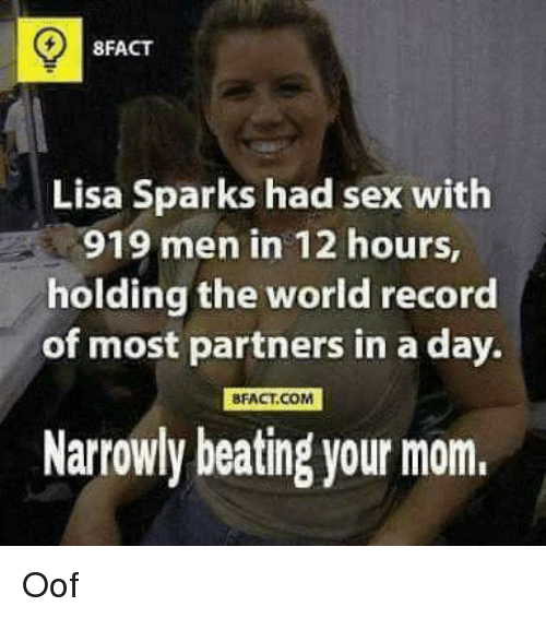 Funny And Record 8fact Lisa Sparks Had With 919 Men In