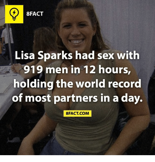 Lisa sparks sex with 919 men