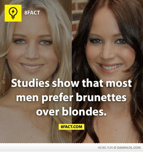 men prefer brunettes