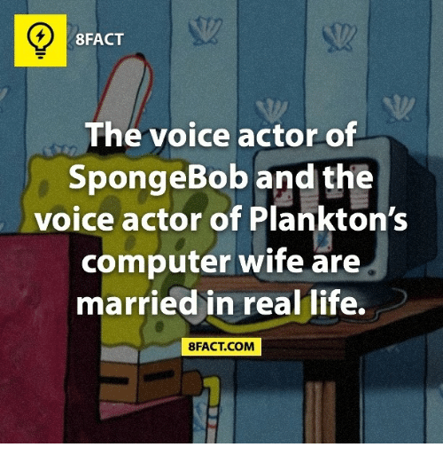 8fact the voice actor of spongebob and the voice actor 21021507 ✅ 25 best memes about planktons computer wife planktons