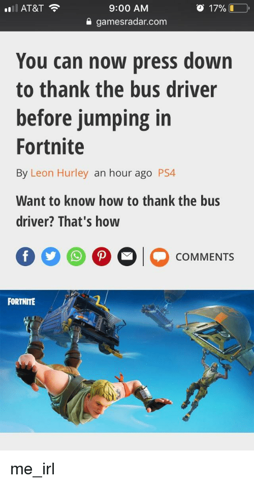 How do you think the bus driver on fortnite on ps4
