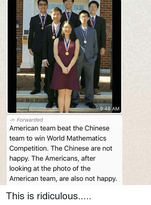 948 AMM Forwarded American Team Beat the Chinese Team to Win