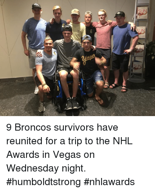 9 Broncos Survivors Have Reunited For A Trip To The Nhl Awards In