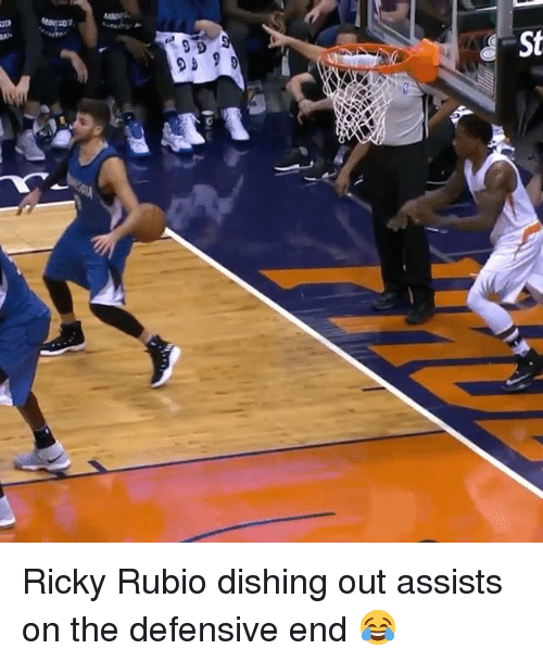 Sports, Dish, and Ricky Rubio: 9 D  9 9 D Ricky Rubio dishing out assists on the defensive end 😂