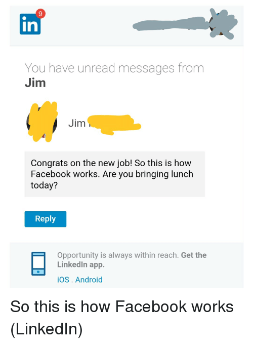 9 in You Have Unread Messages From Jim Jim Congrats on the