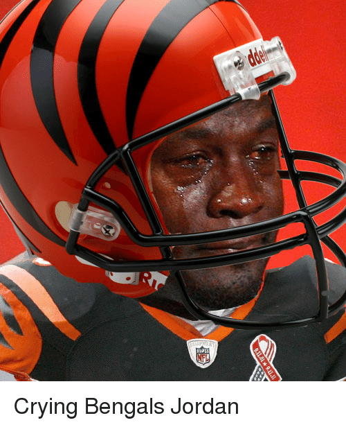 9llll Crying Bengals Jordan | Crying Meme on SIZZLE