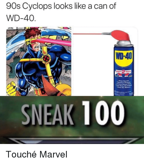 90s Cyclops Looks Like a Can of WD-40 WD-40 AYSWAY Mesha SNEAK 100