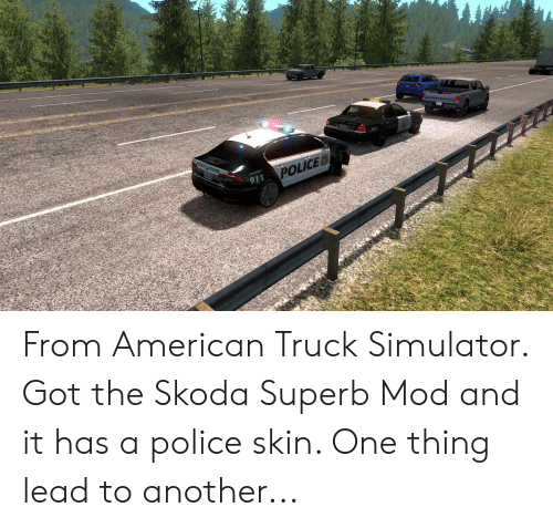 911 POLICED From American Truck Simulator Got the Skoda