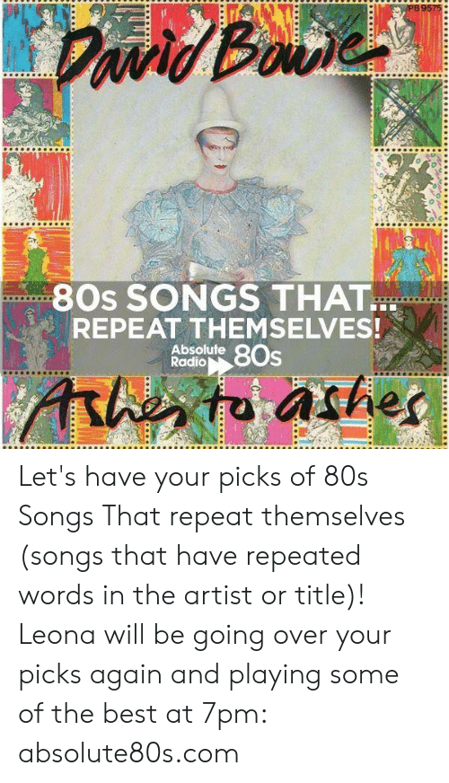 80s Memes And Radio 9575 SONGS THAT REPEAT THEMSELVES Absolute