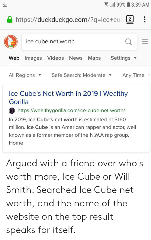 99% 339 AM Httpsduckduckgocom?q-Ice+cul Ice Cube Net Worth