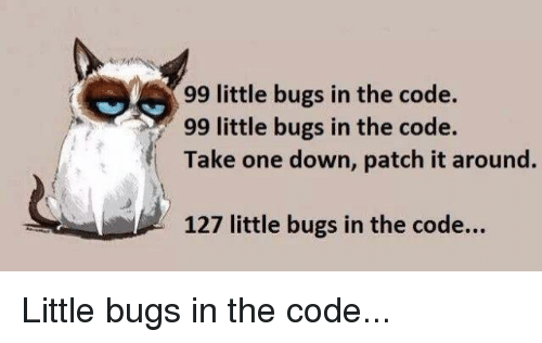 Programmer Humor Code And One 99 Little Bugs In The