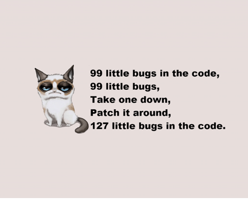 Memes And Code 99 Little Bugs In The