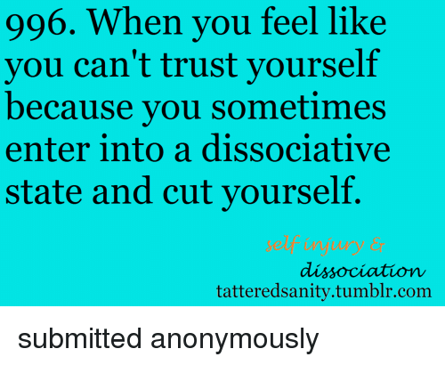 what does it feel like to cut yourself