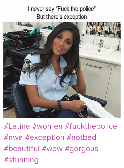 White cops fuck latina in public for vandalizing dumpster