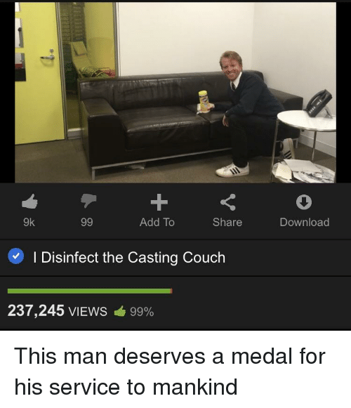 Disenfecting The Casting Couch