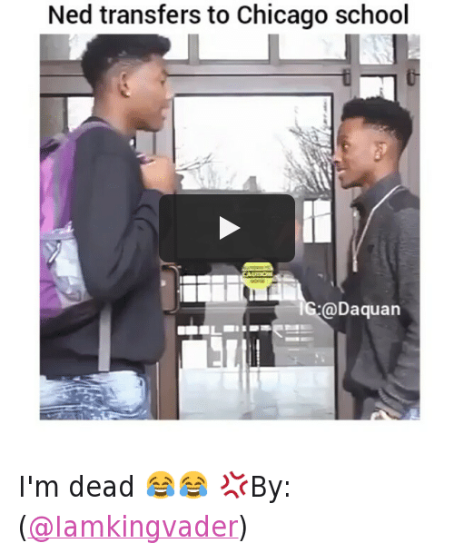 Chicago, Daquan, and School: @daquan  Ned transfers to Chicago school I'm dead 😂😂-💢By:(@Iamkingvader)