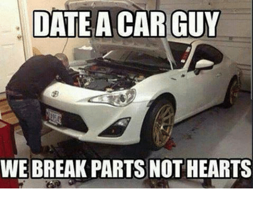Perks of dating a car guy