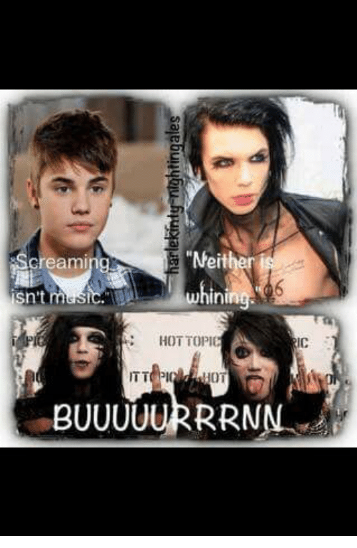 "Hot Topic, Dank Memes, and Cream: ""Neither  Creaming  sn't  whini  HOT TOPIC  ITT PIC  BUUUUURRRNN"