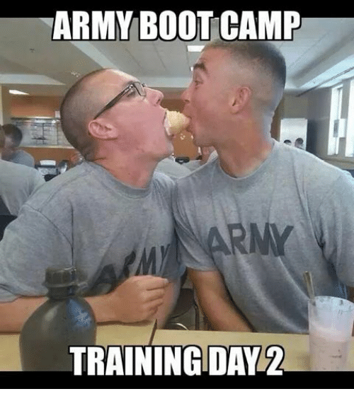 Funny Training Meme : Army bootcamp training day meme on me
