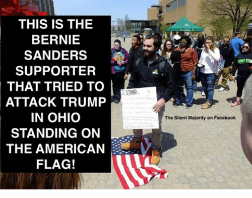 THIS IS THE BERNIE SANDERS SUPPORTER THAT TRIED TO ATTACK