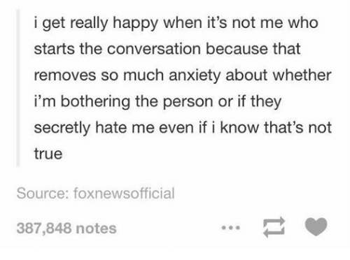 Anxiety even when happy