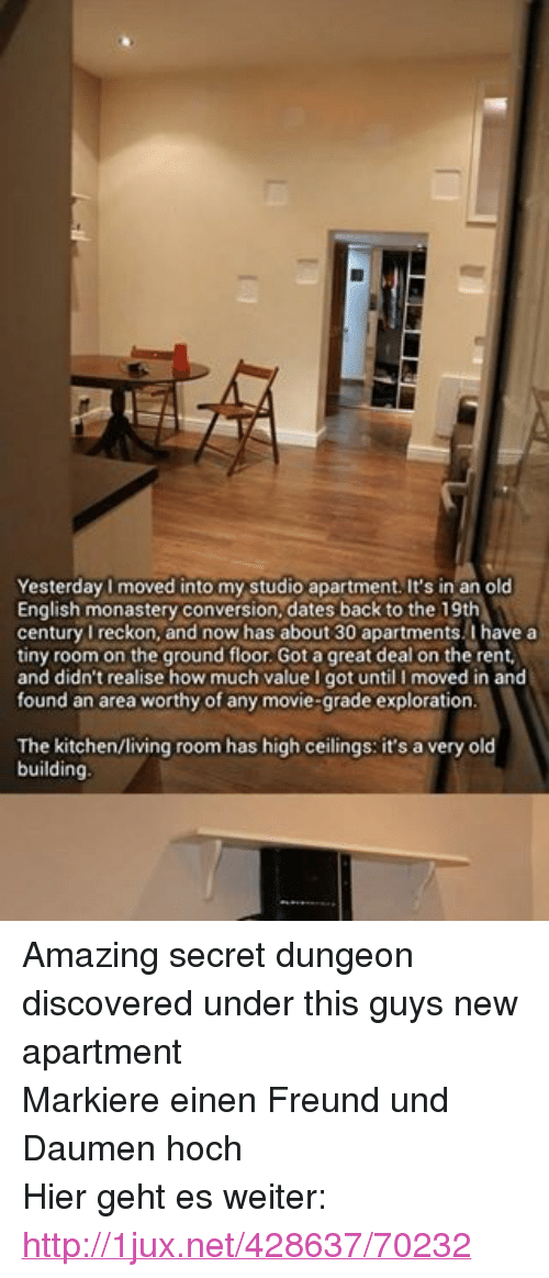 Dating with a studio apartment