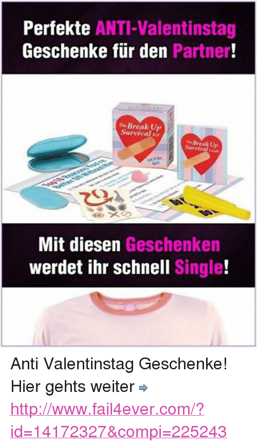 Perfekte Anti Valentinstag Geschenke Fur Den Partner The Break Up
